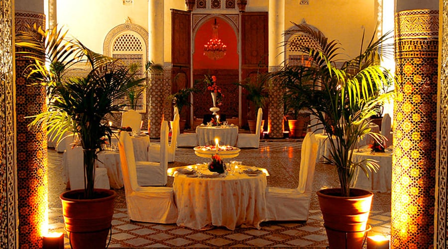 Moroccan restaurant in Marrakech