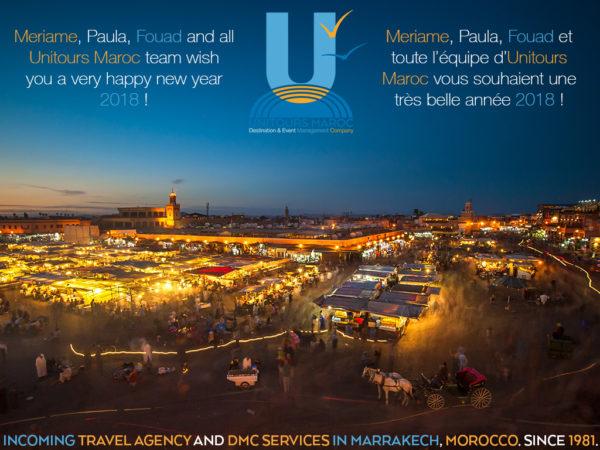 Unitours Maroc 2018 best wishes