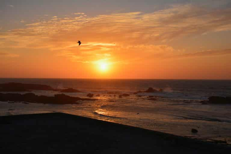 Sunset in Essaouira beach