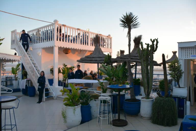 Sunset at Taros restaurant in Essaouira